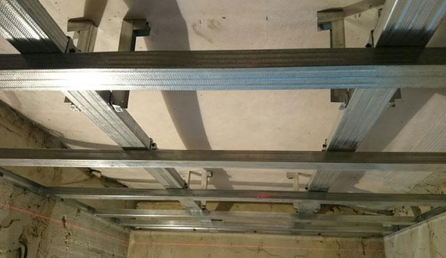 технология подвесного потолка из гипсокартона
