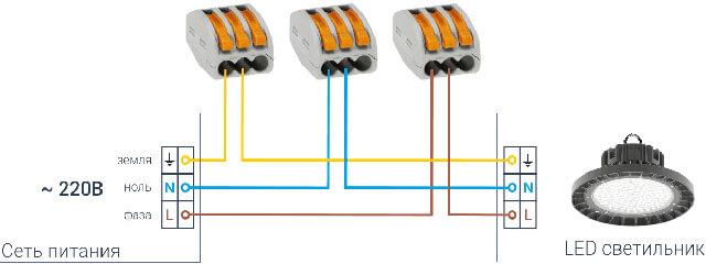схема светодиодного потолочного светильника