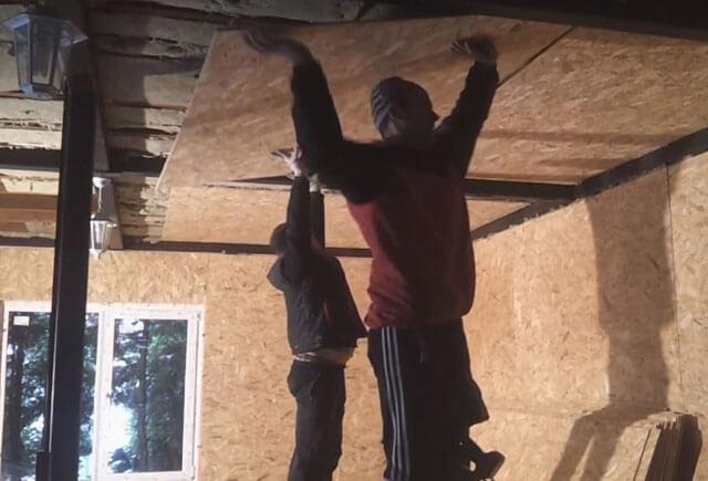 обшивка потолка ОСБ