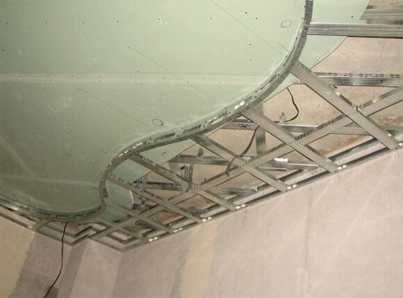 подсветка гипсокартонного потолка монтаж