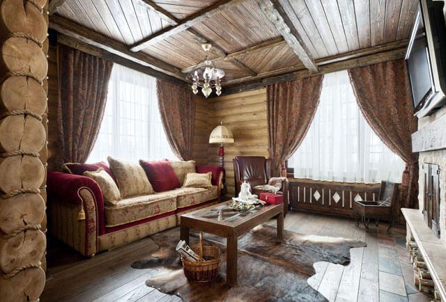 потолок из деревянных реек с подсветкой