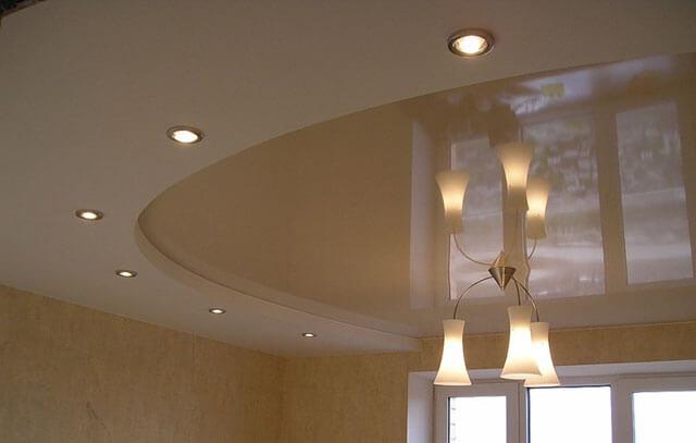 дизайн подсветок на натяжной потолок