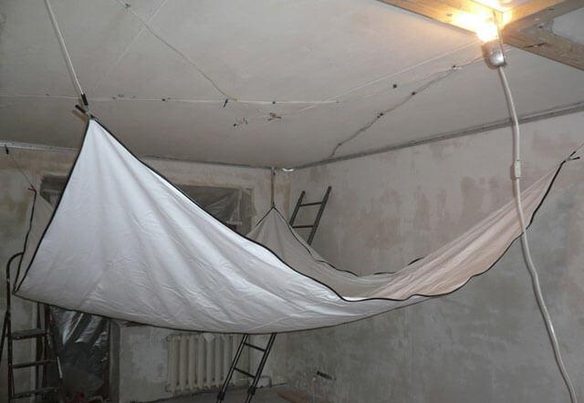 натяжной потолок минимальное расстояние от потолка