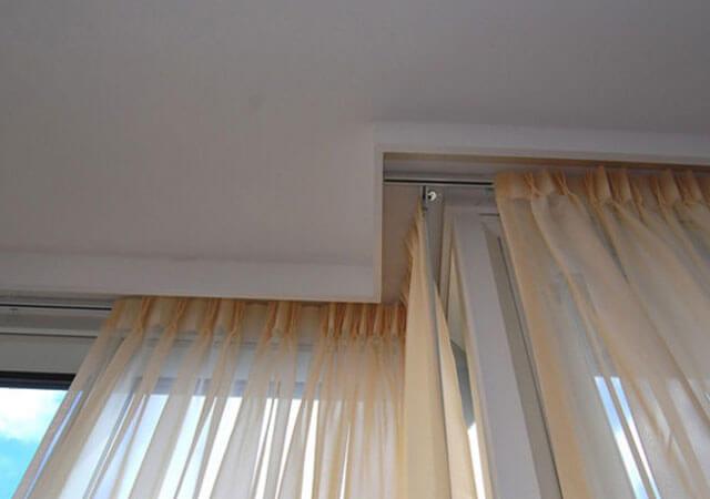ниша в потолке для штор