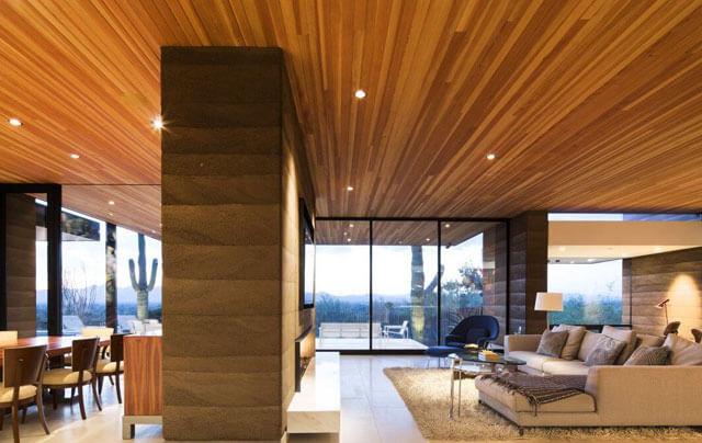 подвесной потолок деревянный потолок
