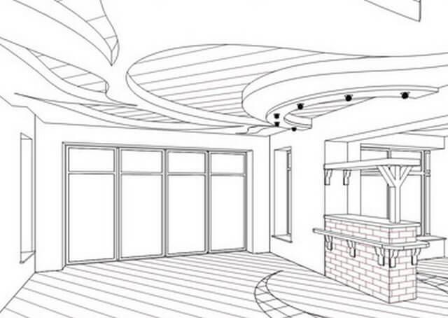 многоуровневые потолки из гкл