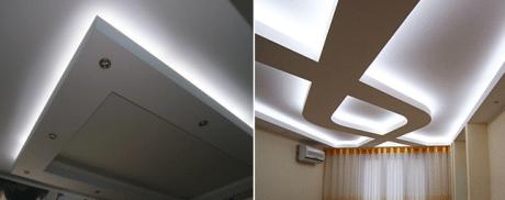 варианты установки светодиодной ленты