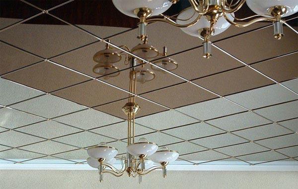 зеркальный подвесной потолок цена