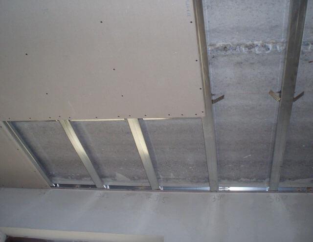 подвесной потолок из гипсокартона технология