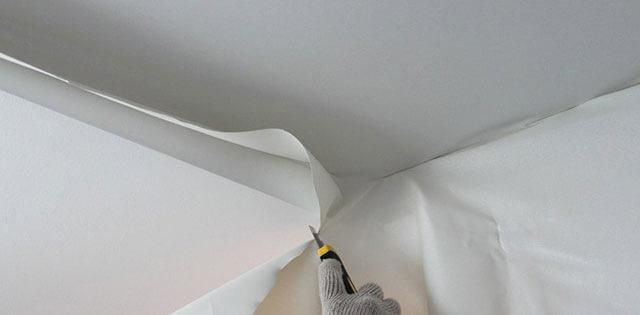 ткань для потолка в квартире