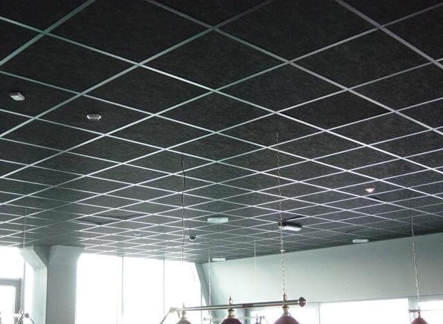 установка подвесного потолка Армстронг