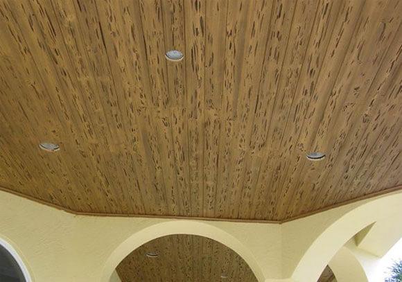 деревянные реечные потолки