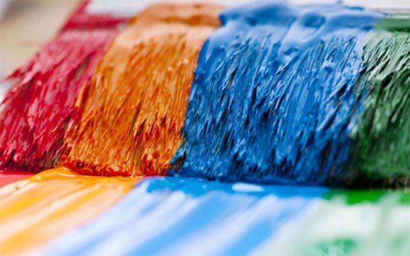 как покрасить плитку на потолке своими руками