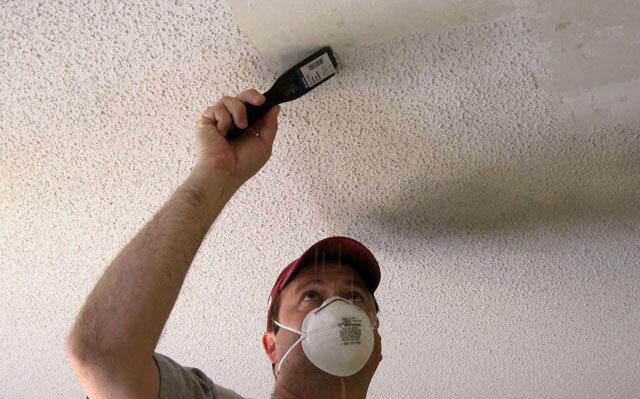как очистить потолок от побелки быстро