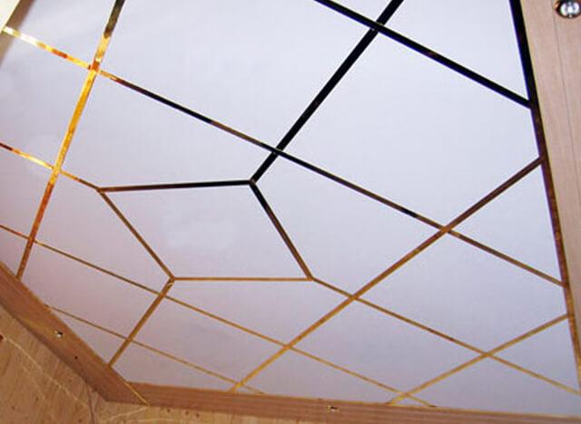 рассчитать подвесной потолок