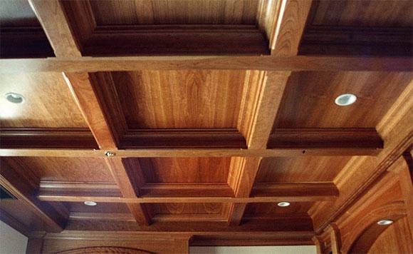 потолок по деревянным перекрытиям
