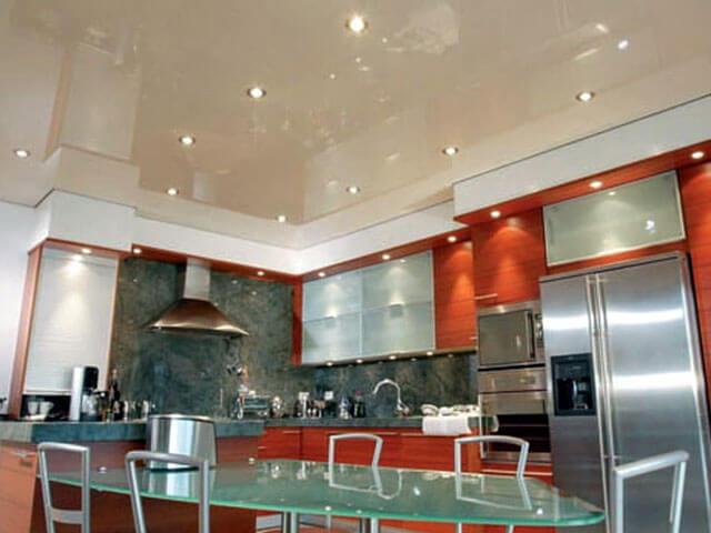 потолочное освещение на кухне