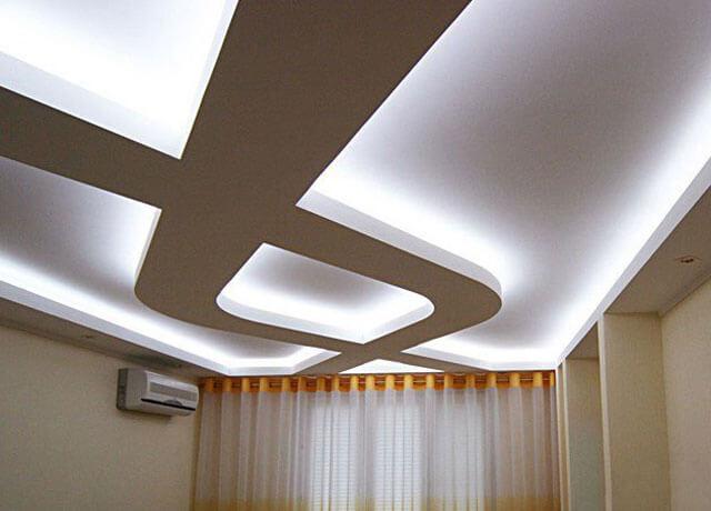 парящий потолок из гипсокартона монтаж