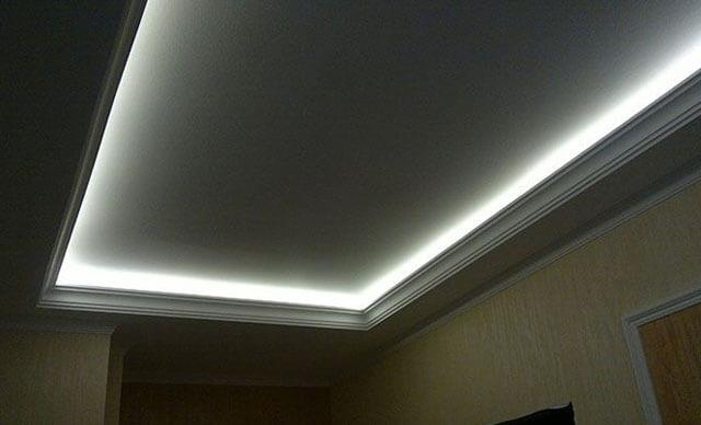 светодиодные ленты для подсветки потолка как установить