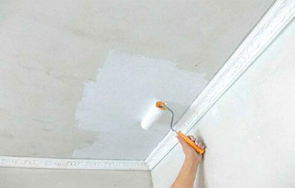 как побелить потолок на кухне