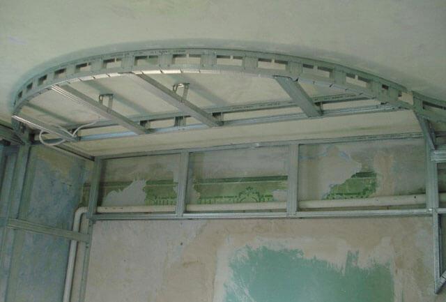 установка профиля под гипсокартон на потолок