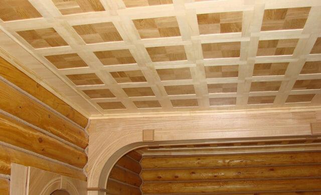подшивка потолка доской