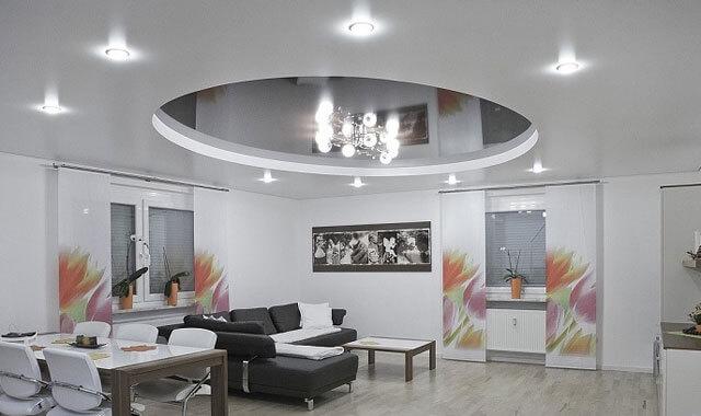освещение потолка в интерьере