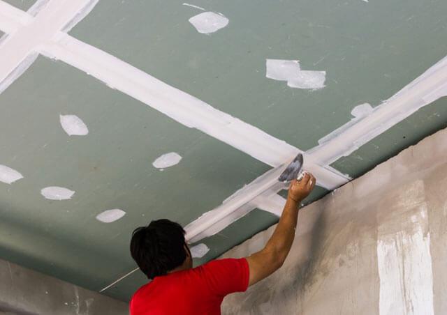 как сделать потолок из гкл