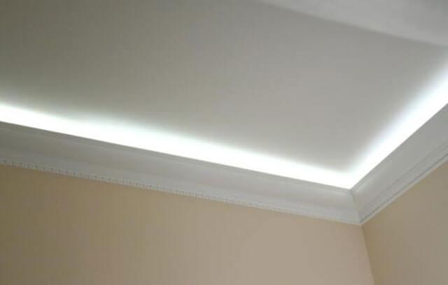 потолочный плинтус для светодиодной ленты