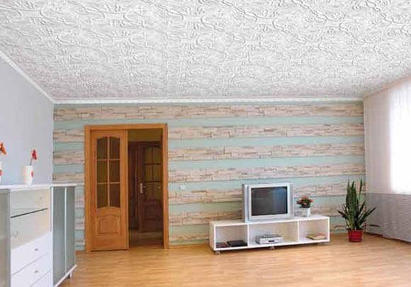 глянцевые обои для потолка