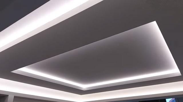 парящий натяжной потолок нового поколения с подсветкой