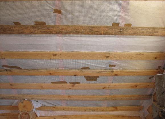 перекрытие потолка в деревянном доме