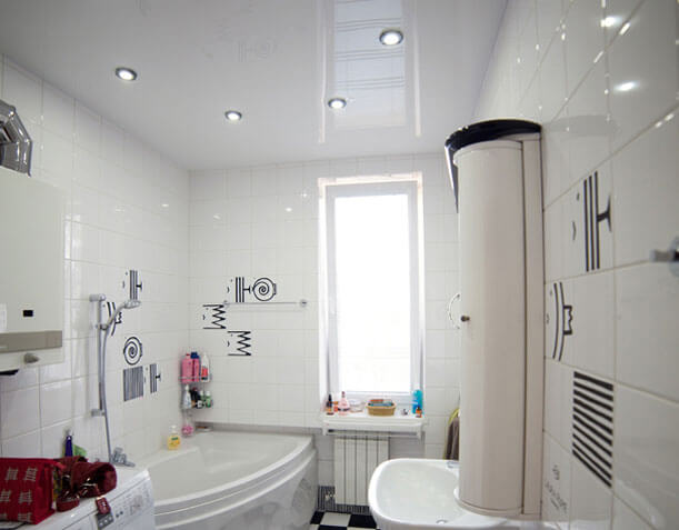 потолочные светильники в ванную комнату потолок натяжной