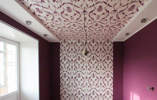 натяжной потолок из ткани своими руками