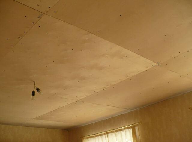 потолок из фанеры своими руками