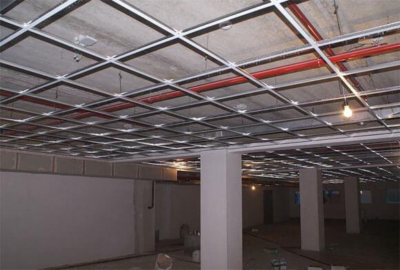 подвесной потолок схема монтажа