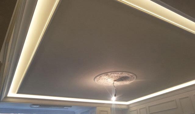 парящий потолок монтаж