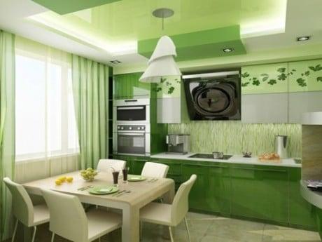 зеленые оттенки в оформлении