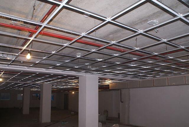 подвесной потолок кассетного типа