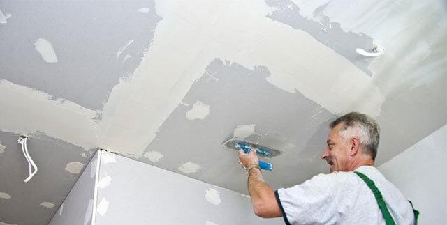 обработка потолка перед покраской