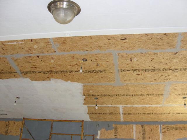 подшивка потолка ОСБ