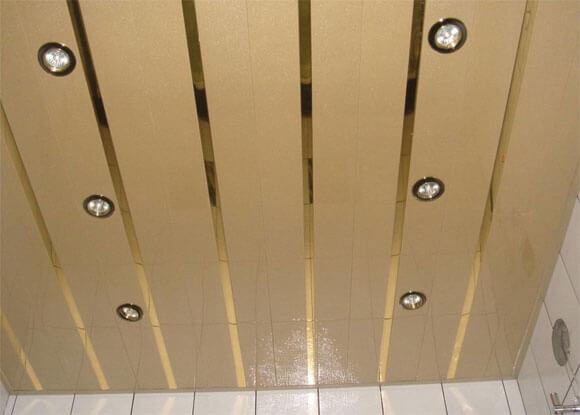 реечный потолок расчет