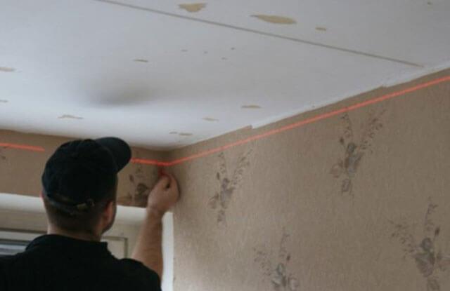 монтаж гипрока на потолок