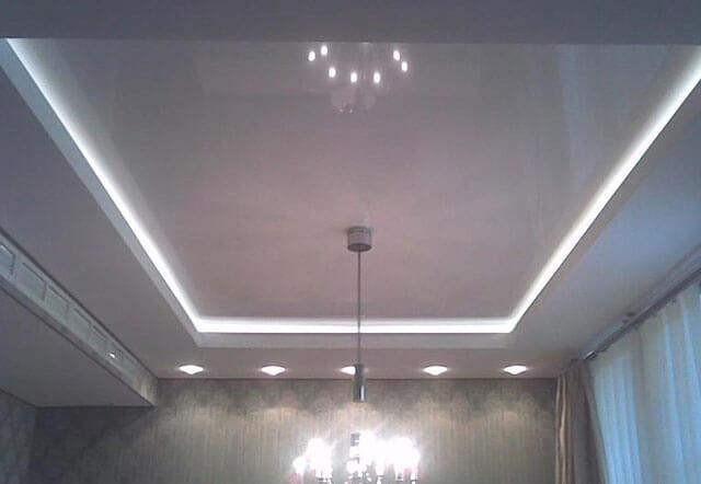 натяжной потолок с подсветкой изнутри