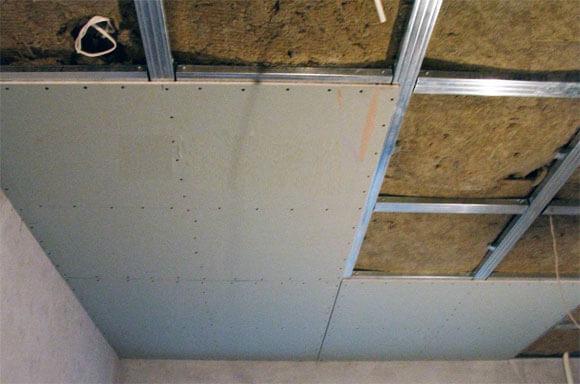 как подбить потолок гипсокартоном