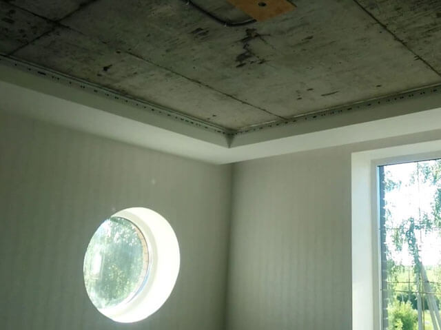 закладные под натяжной потолок в гипсокартоне