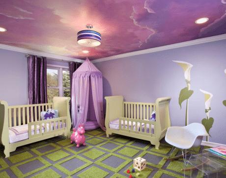 потолок с эффектным принтом