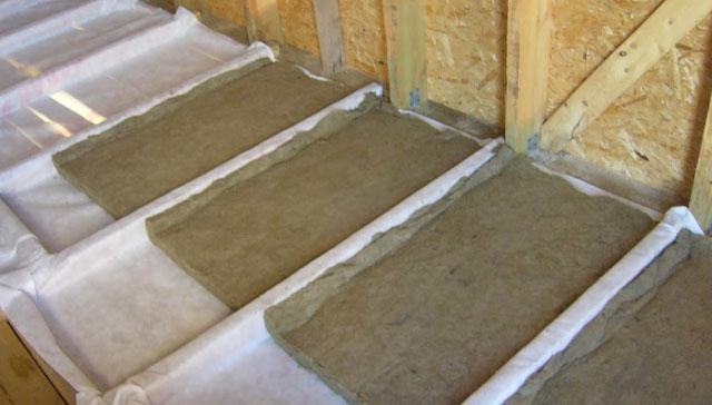 как утеплить потолок на чердаке минватой