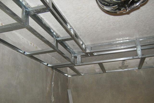 гипсокартон потолок с светодиодной лентой