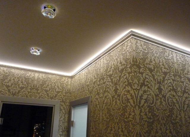 багет для натяжного потолка с подсветкой